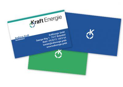 KRAFT Energieberatung Visitenkarten
