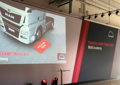 MAN Wandgestaltung Truck Training Days 2017